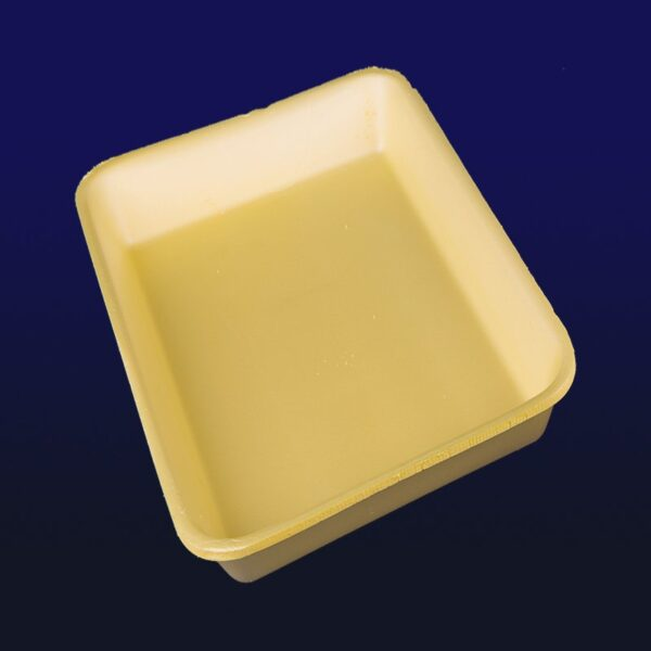 bandejas de isopor amarela para carne e frios
