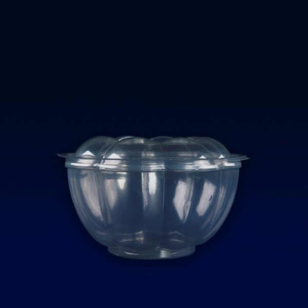 saladeira com tampa articulada