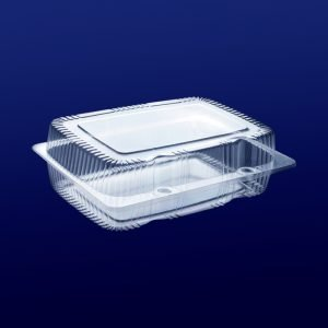 embalagem plástica retangular para alimentos