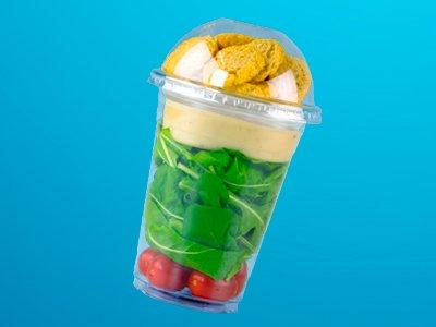 Copo Bolha para salada, copo para doces